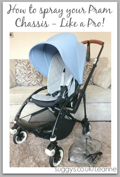 how to spray paint your bugaboo bee pram chassis like a pro. Black Bedroom Furniture Sets. Home Design Ideas