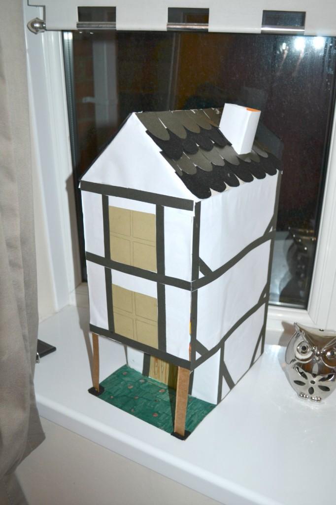 School project cardboard house