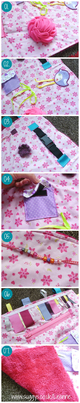 Alzheimer'sDementia Fidget Lap Blanket how to tutorial