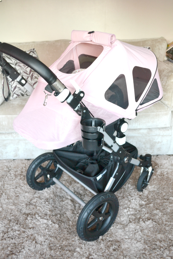 Bugaboo Cameleon3 Soft Pink Breezy Hood Extended